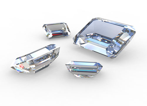 Loose Emerald Cut Diamonds