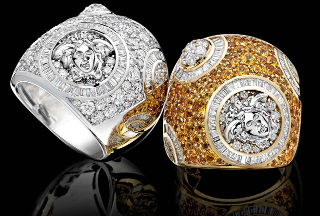 Luxury Versace Diamond Rings