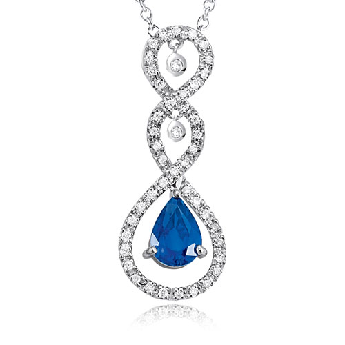 Sapphire and Diamond Pendant
