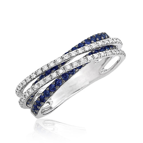 Sapphire Diamond Ring